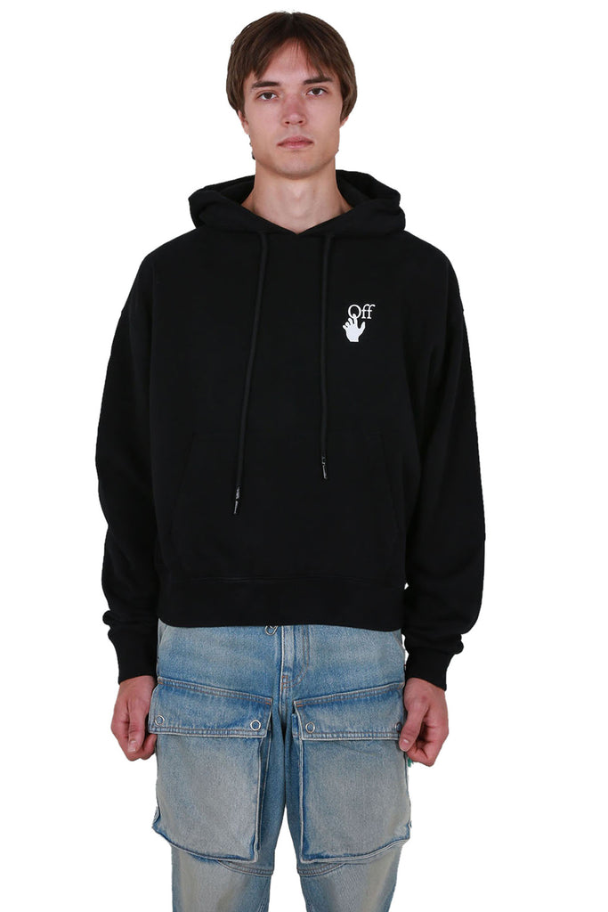 Cut Here Oversized Hoodie - Black/White