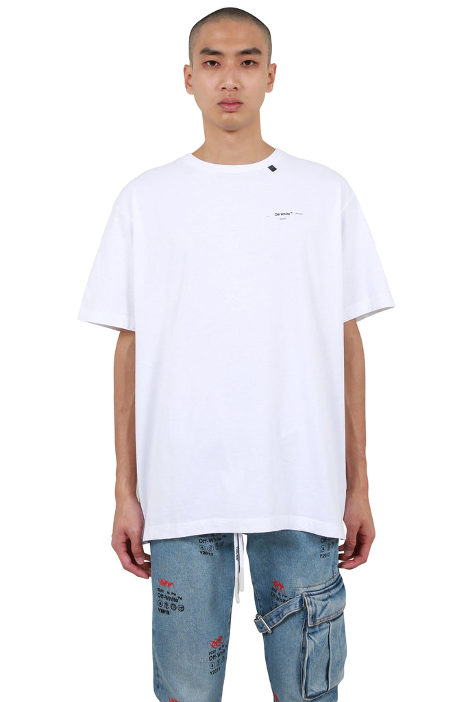 Abstract Arrows Oversized T-shirt - White