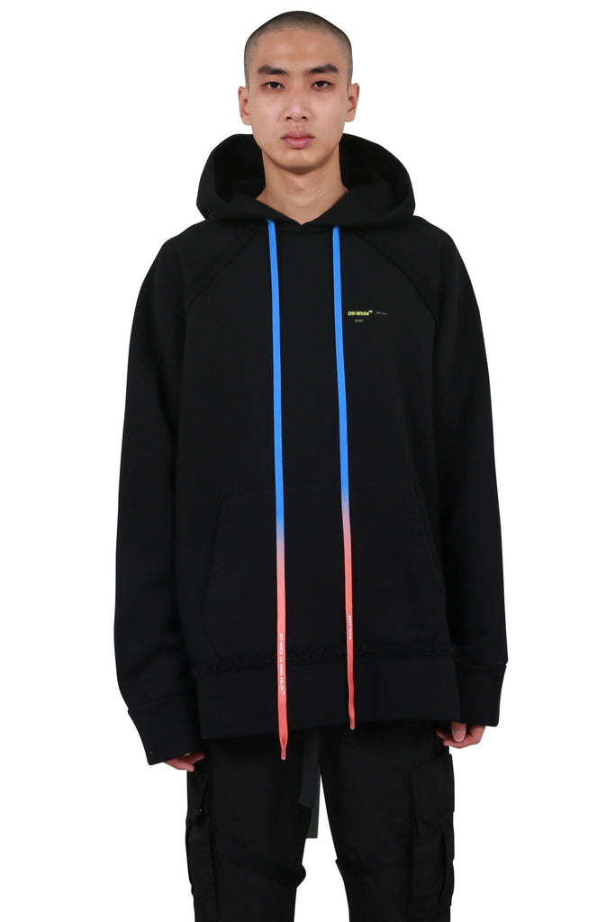 Acrylic Arrows Incomplete Hoodie - Black