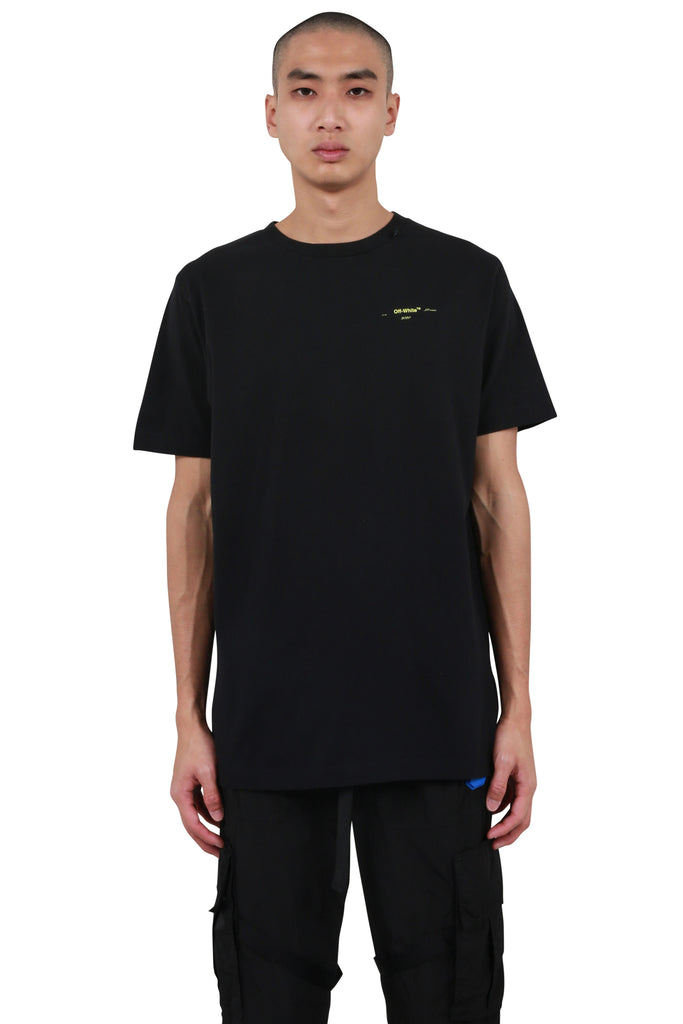 Acrylic Arrows Slim T-shirt - Black/Yellow