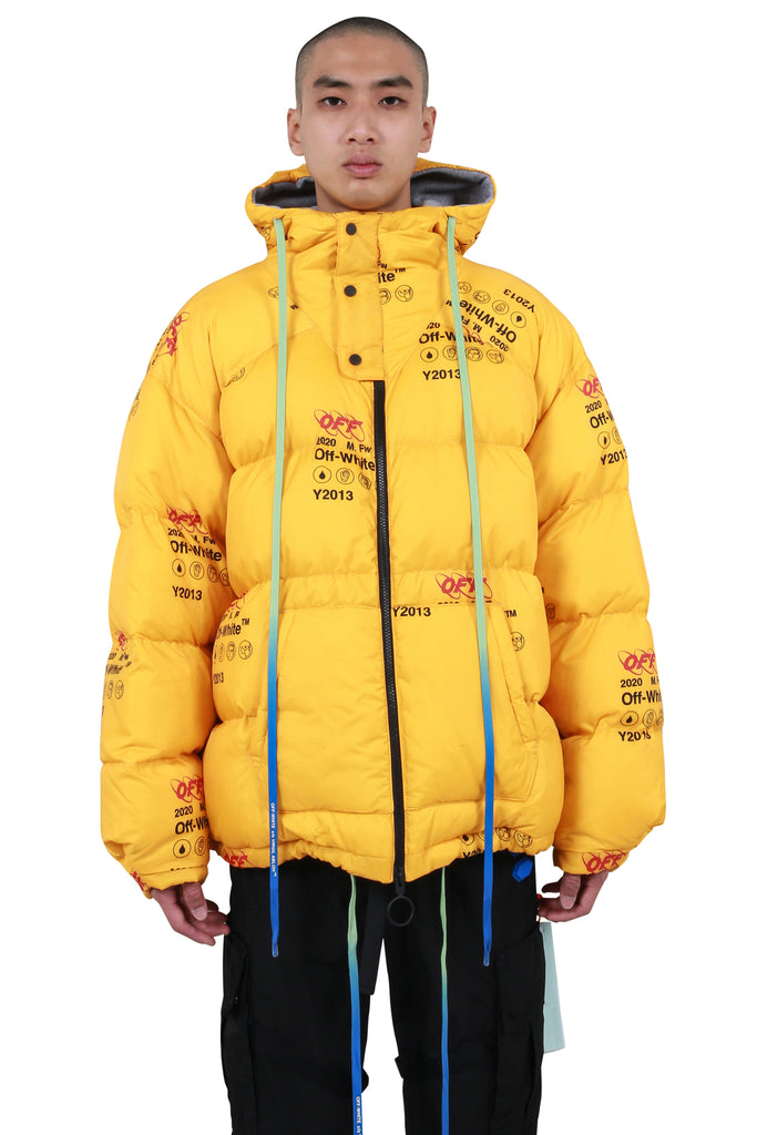 Industrial Zipped Puffer - Yellow