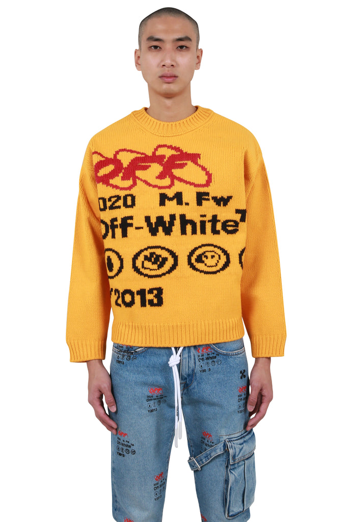 Industrial Y013 Bonded Knit Crewneck - Yellow