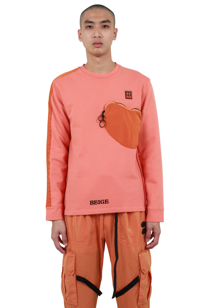 Parachute Panel Sweatshirt - Orange