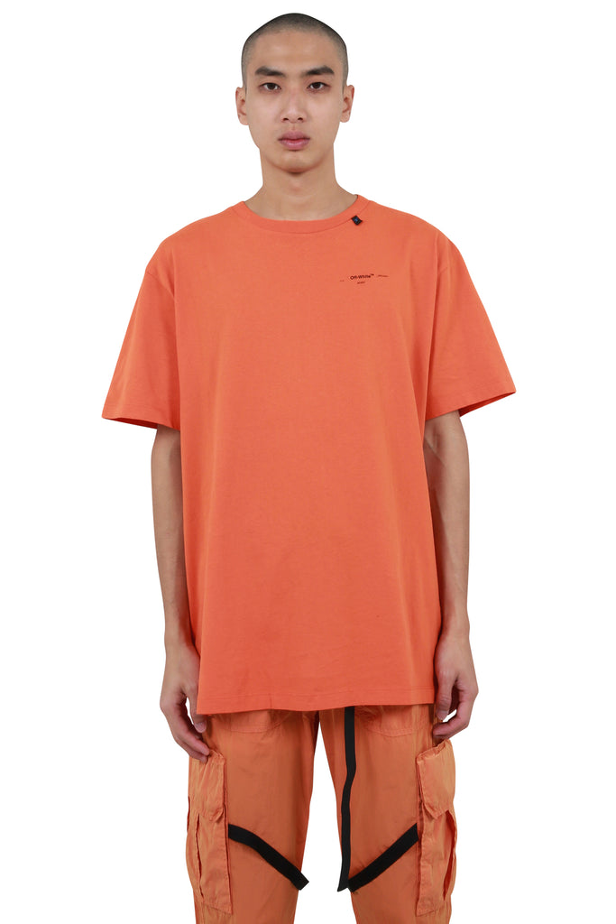 Abstract Arrows Oversized T-shirt - Orange