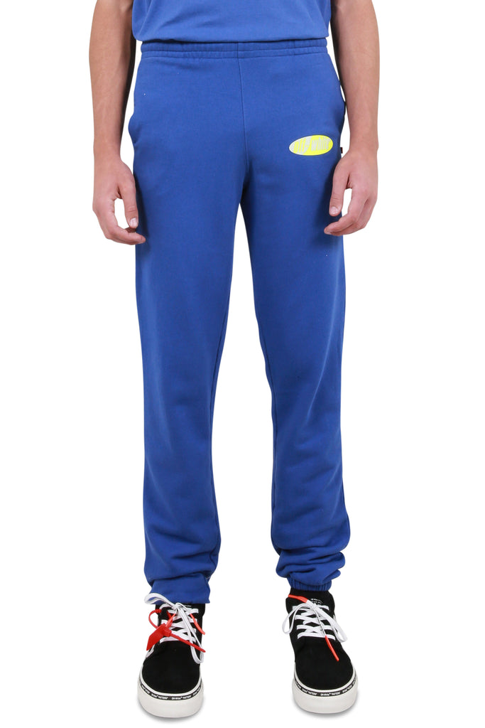 Split Logo Slim Sweatpants - Blue/Yellow