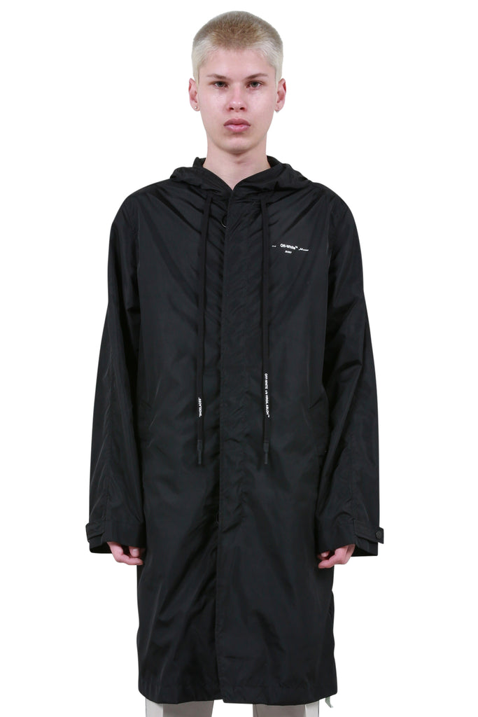 Unfinished Raincoat - Black/Silver