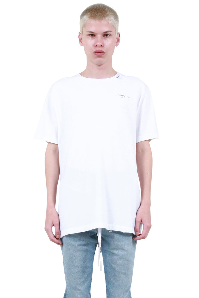 Unfinished Oversized T-Shirt - White/Silver