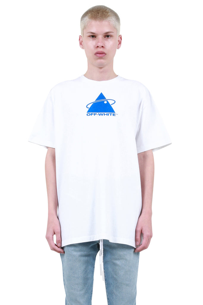Triangle Planet Oversized T-Shirt - White