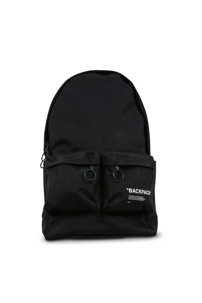 Quote Backpack - Black