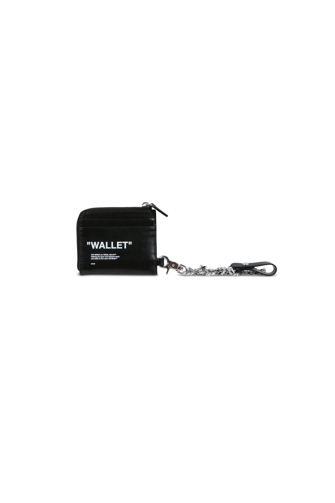 Quote Zip Chain Wallet - Black