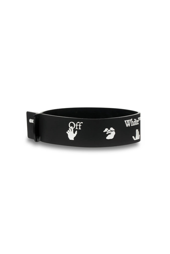 Logo Thin Bracelet - Black