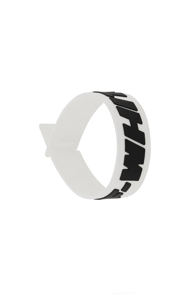 2.0 Industrial Thin Bracelet - White/Black