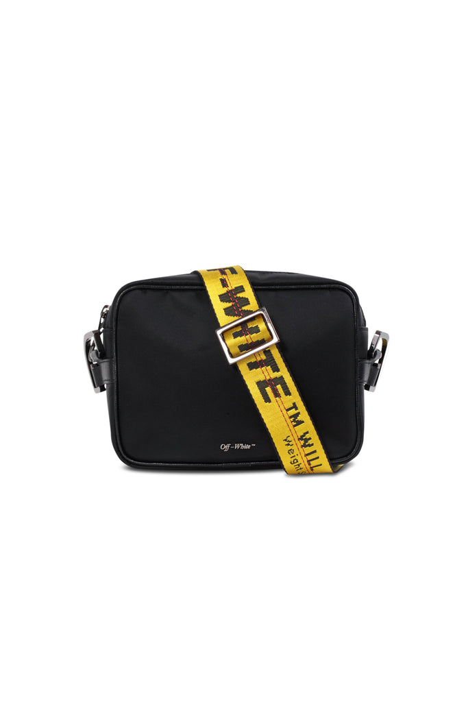 OFF-WHITE: Crossbody Bag - Black | LESSONS