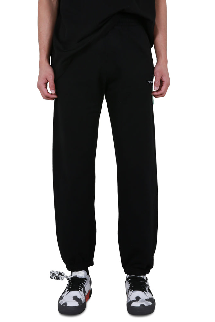 Chainsaw Worker Slim Sweatpants - Black/White