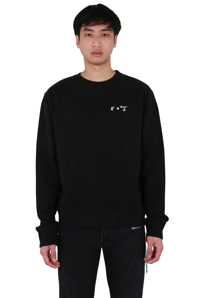 Logo Slim Crewneck - Black/White