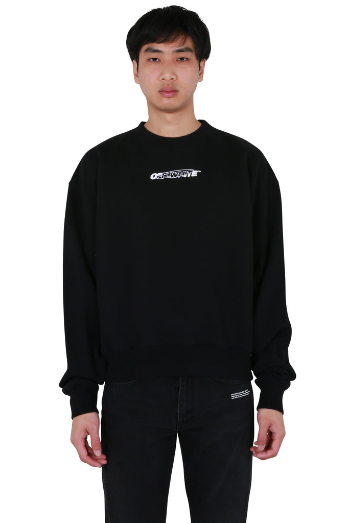 Hand Painters Oversized Crewneck - Black/White