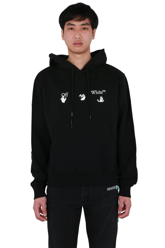 Big Off-White Logo Slim Hoodie - Black/White