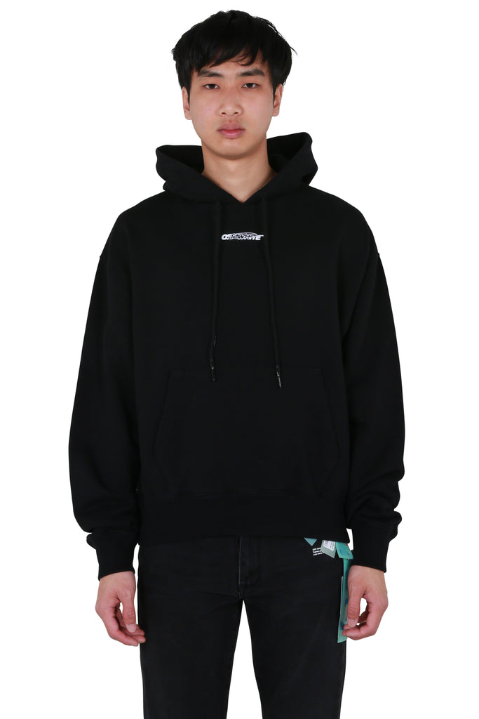 Barrel Worker Oversized Hoodie - Black/White