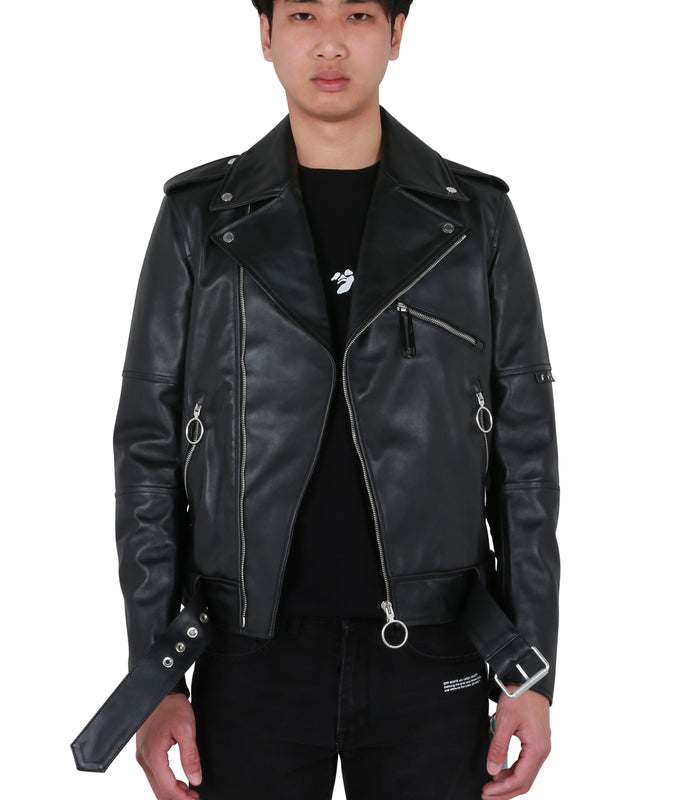 Off-White Logo Vintage Biker - Black