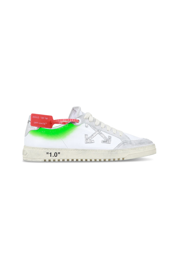 OFF-WHITE: 2.0 Sneakers - White/Green | LESSONS