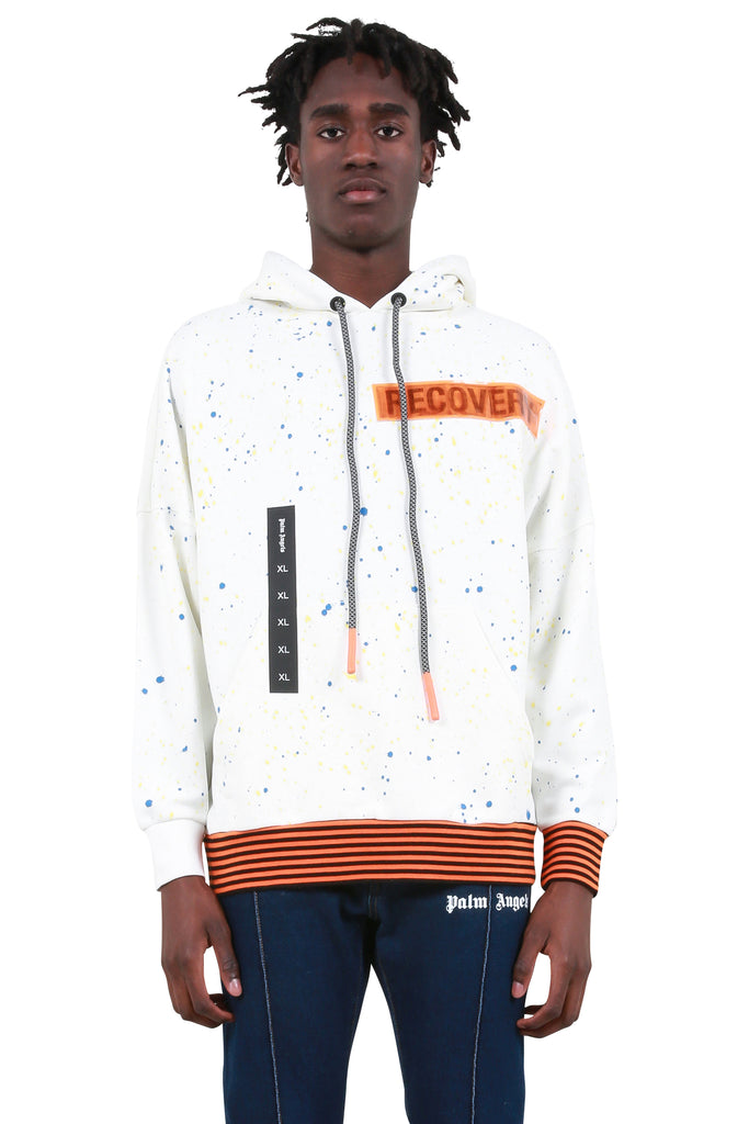 YB Painted Oversized Hoodie - Off White