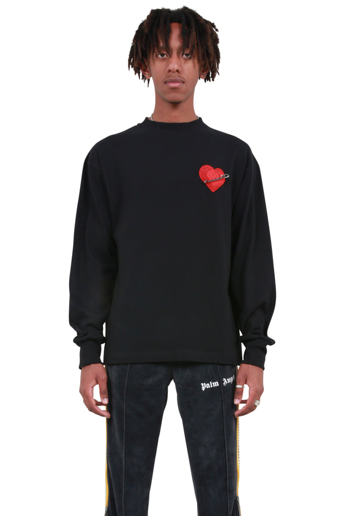 Pin My Heart Long-sleeve T-shirt - Black