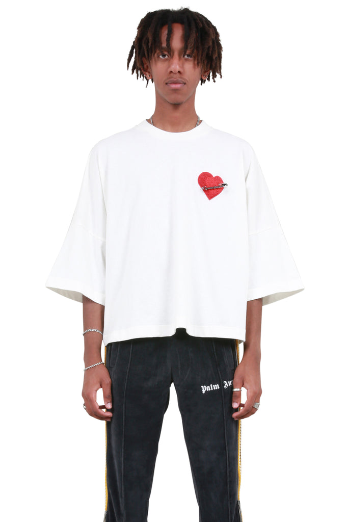 Pin My Heart Cropped Tee - Off-White