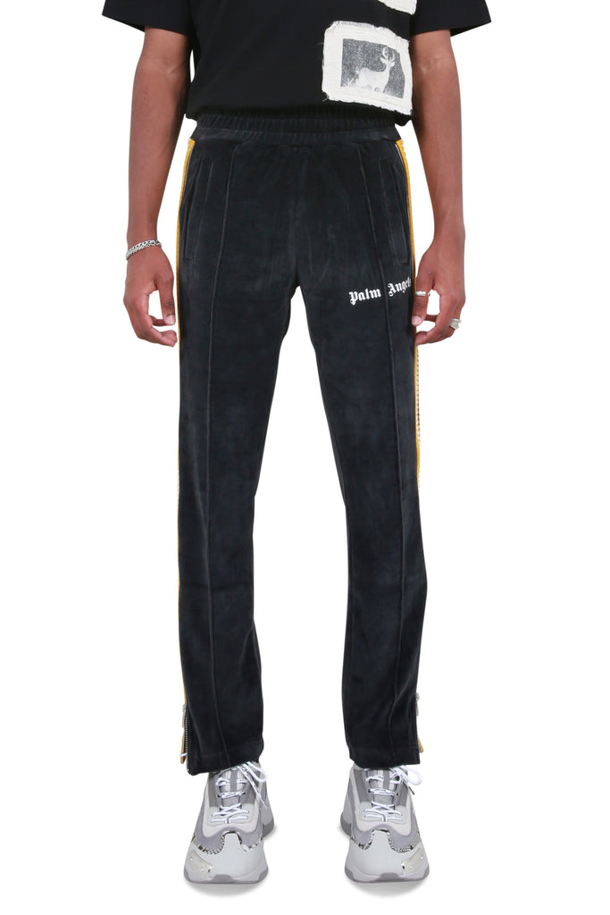 Chenille Track Pants - Black