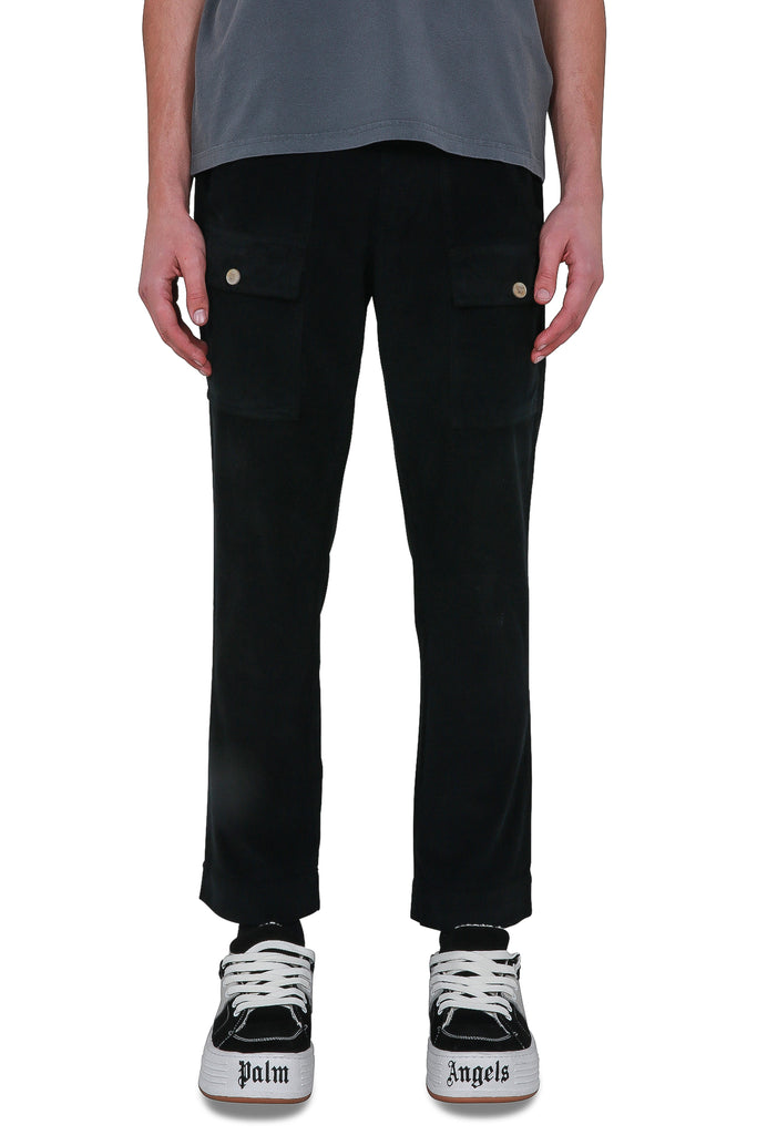 Corduroy Pocket Pants - Black