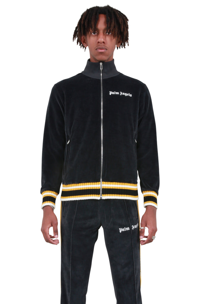 Chenille Track Jacket - Black