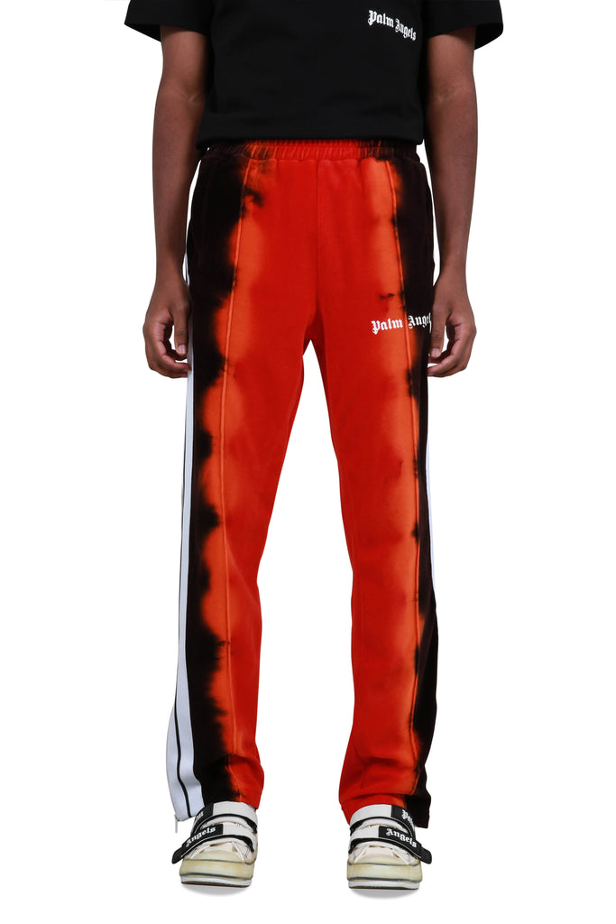Tie Dye Chenille Track Pants - Red