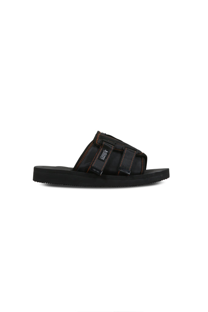 Suicoke Patch Slider - Black/Orange