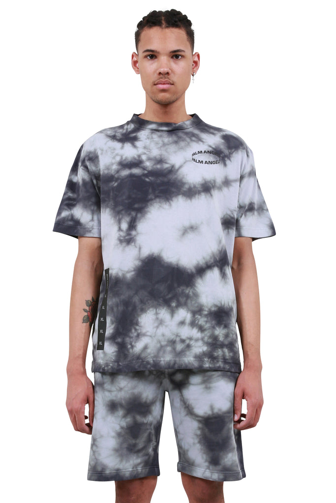 PALM ANGELS: Circle T-Shirt - Black Tie Dye | LESSONS