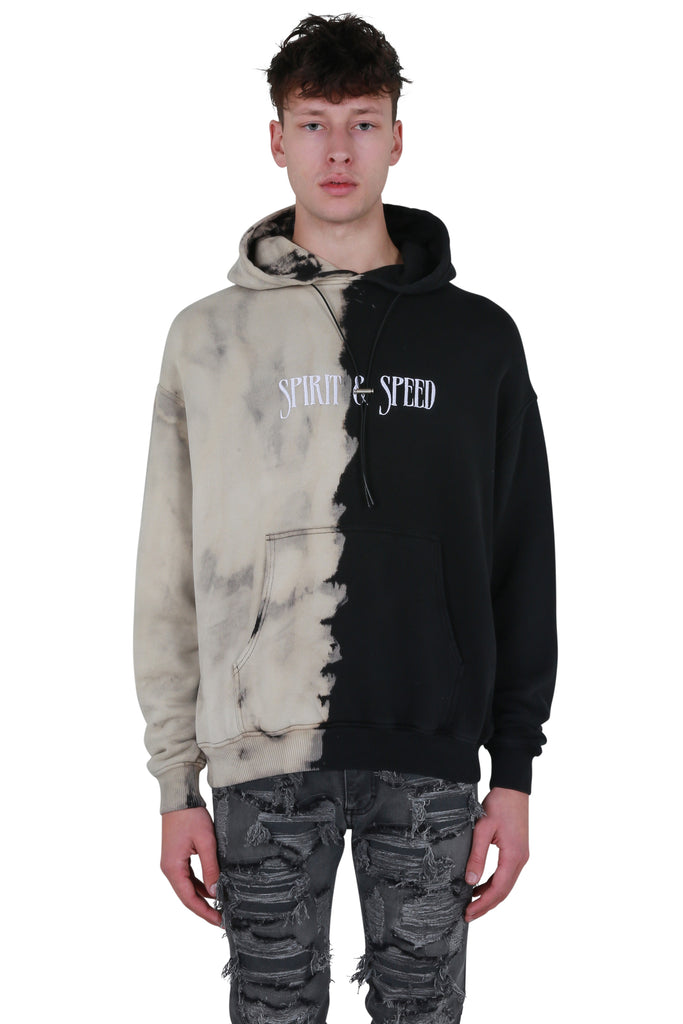 Spirit and Speed Hoodie - Off White/Black Wash