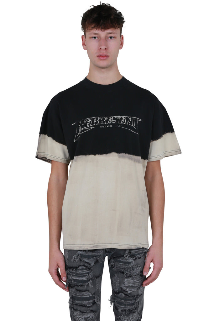 Metal Half Dip T-shirt - Black/Off White