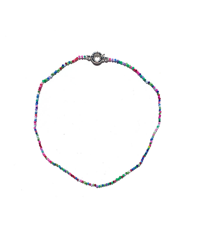 Multicolour Gemstone Beaded Necklace