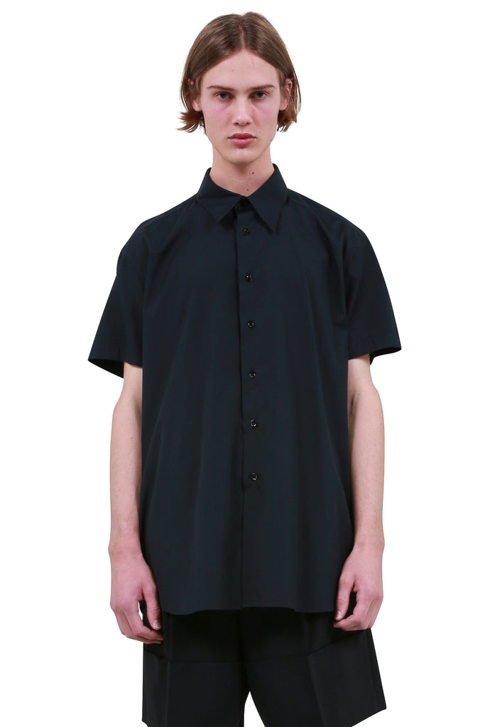 RAF SIMONS: Embroidered Shirt - Black | LESSONS