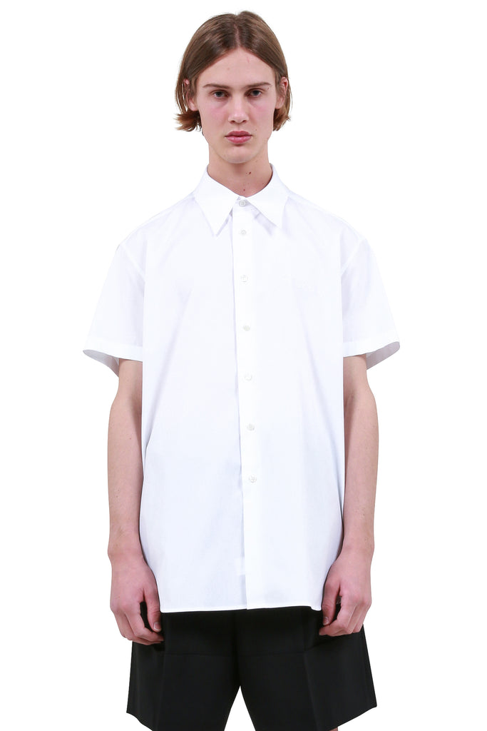 RAF SIMONS: Embroidered Shirt - White | LESSONS