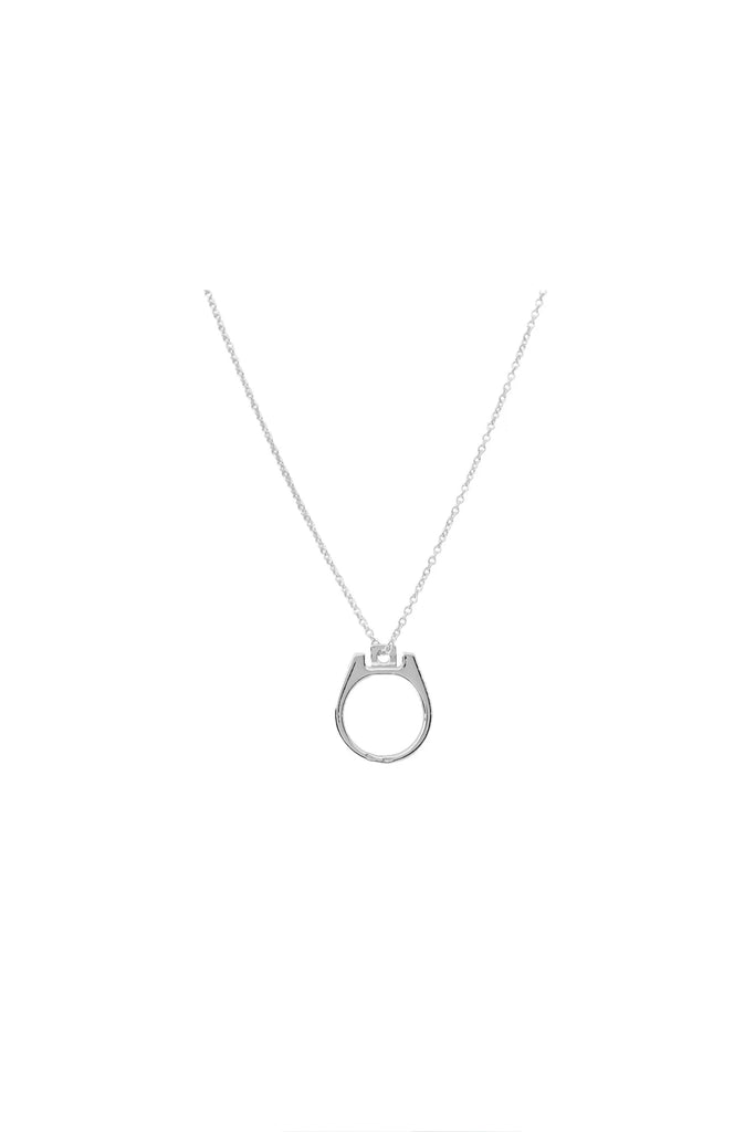 RAF SIMONS: Can Tab Necklace - Silver | LESSONS