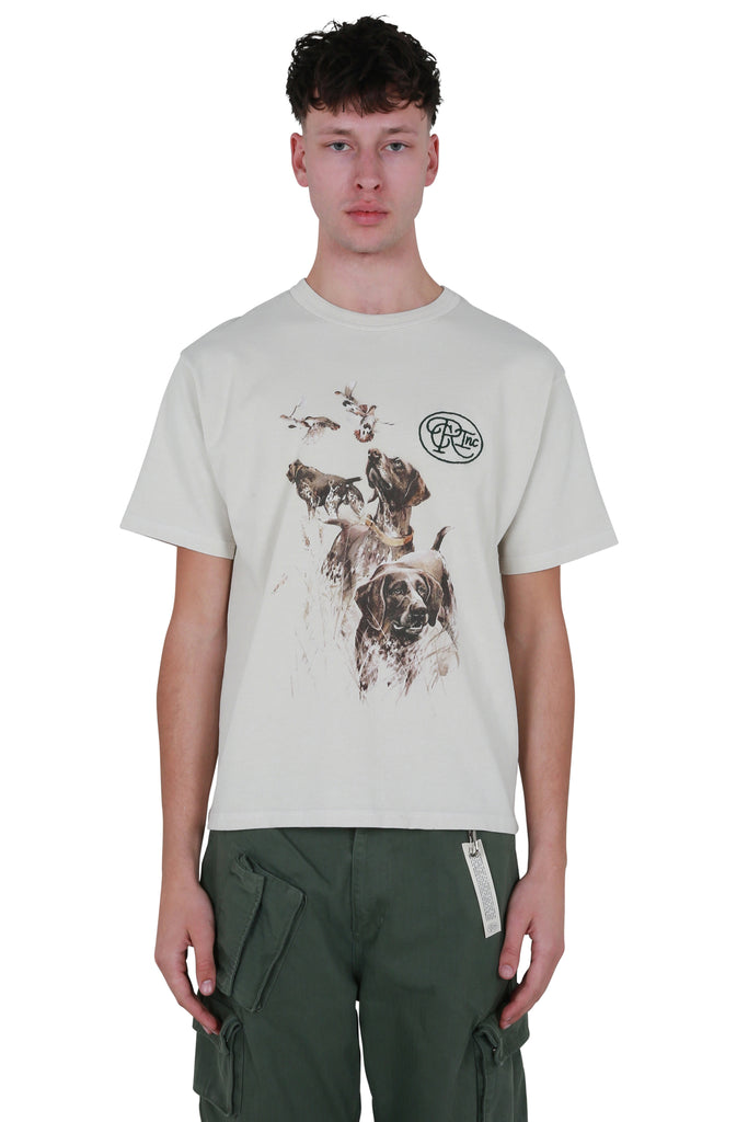 Hunting Dogs Painting T-shirt - White