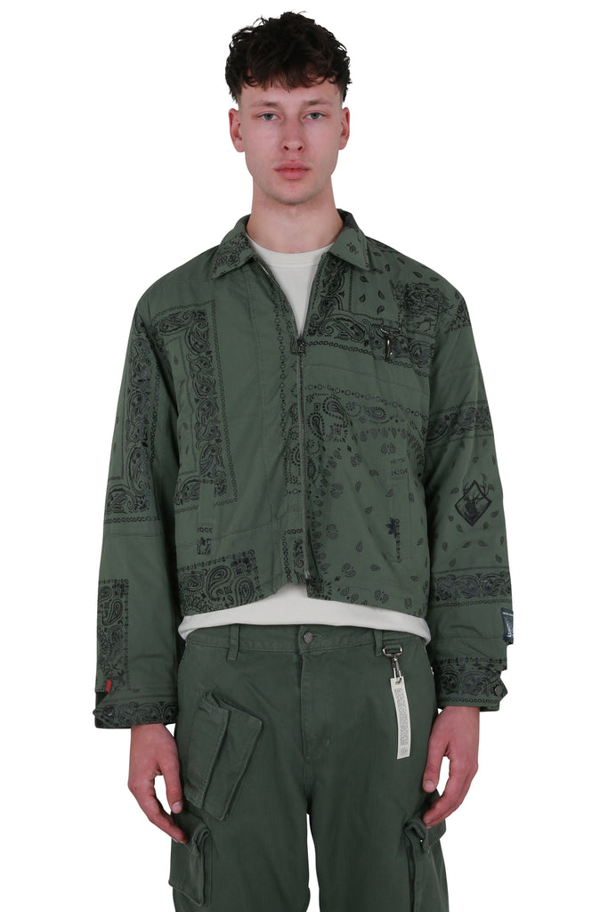 Bandana Work Jacket - Sage