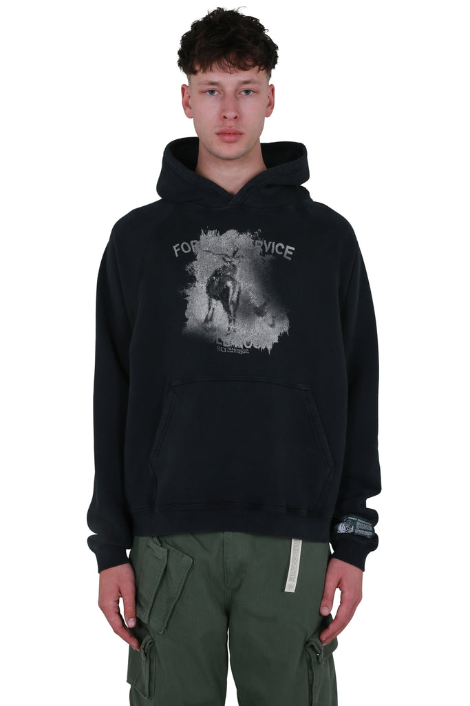 Forest Service Hooded Sweatshirt - Black