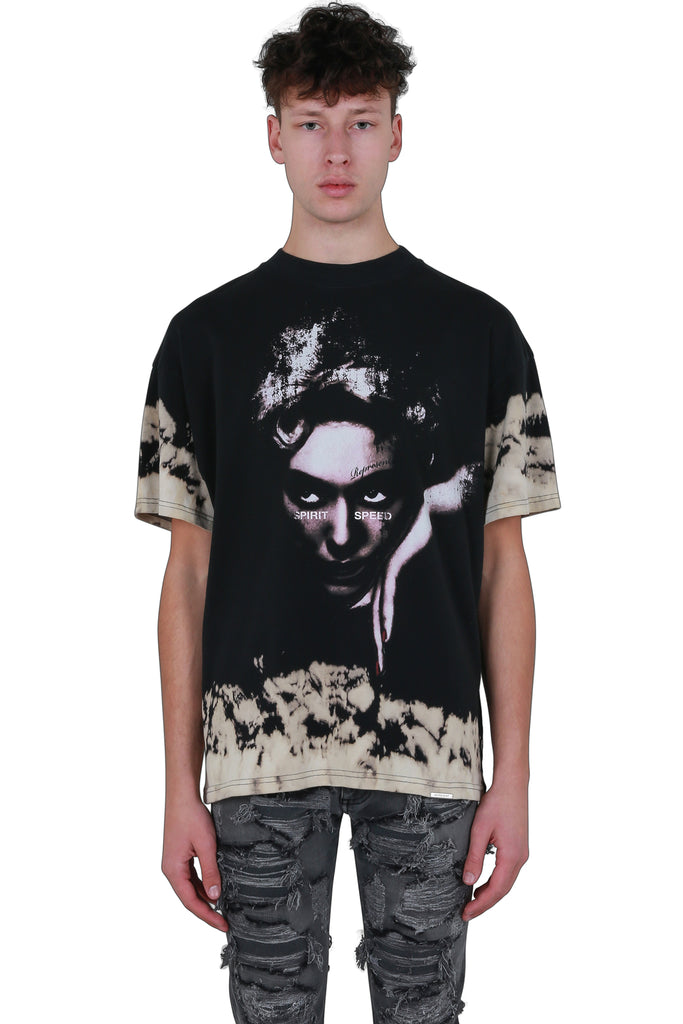 Spirit Face T-shirt - Vintage Black