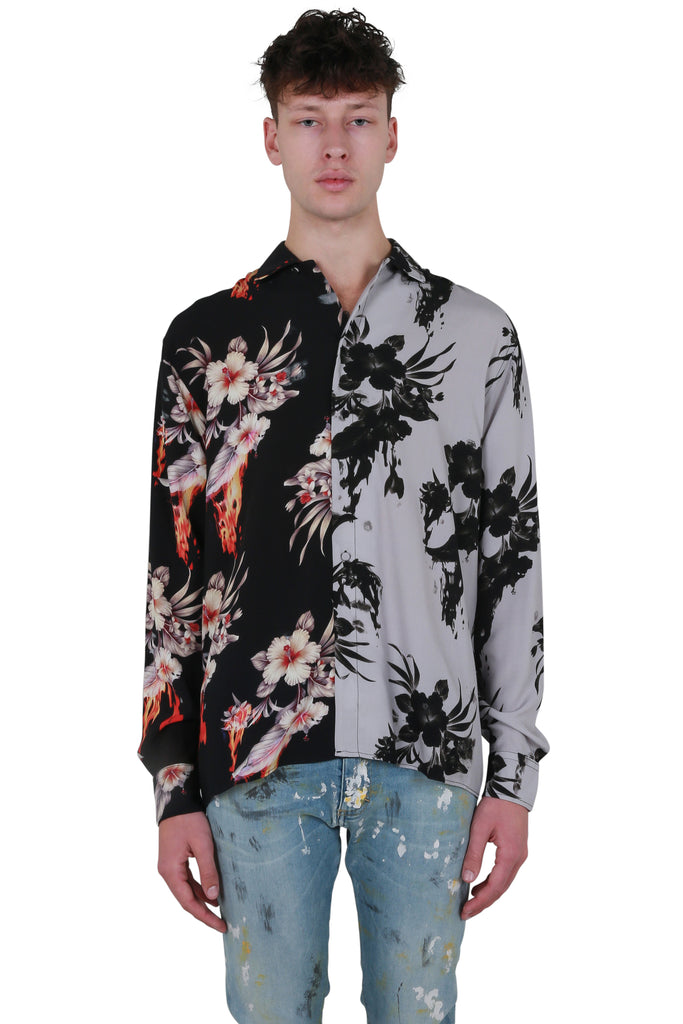 Floral Flame Collar Shirt