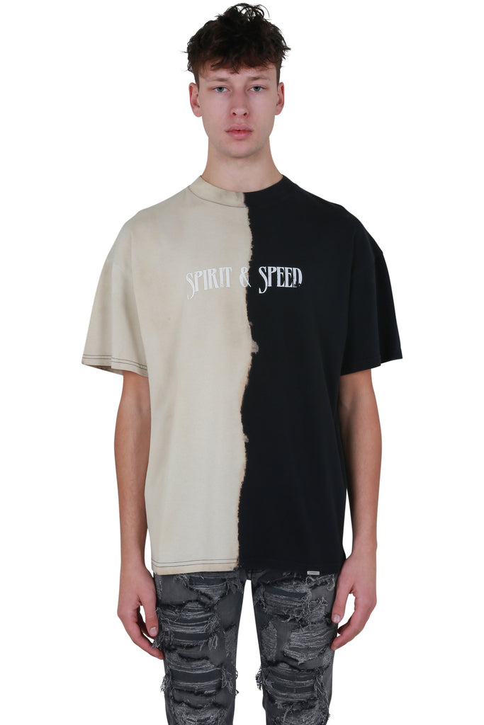 Spirit & Speed T-shirt - Black/Off White