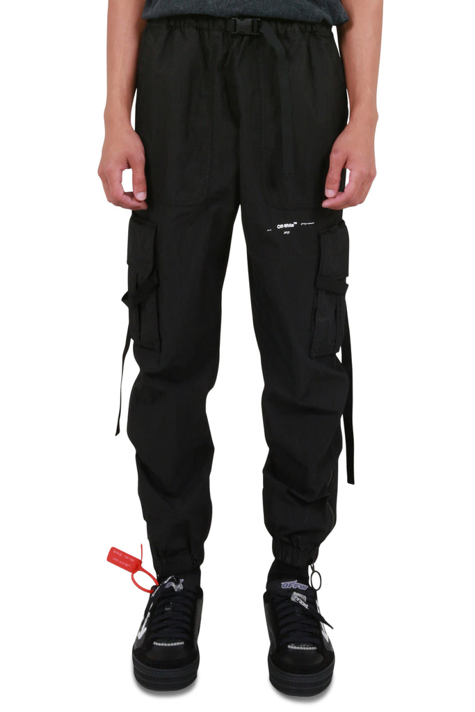 Parachute Cargo Pants - Black