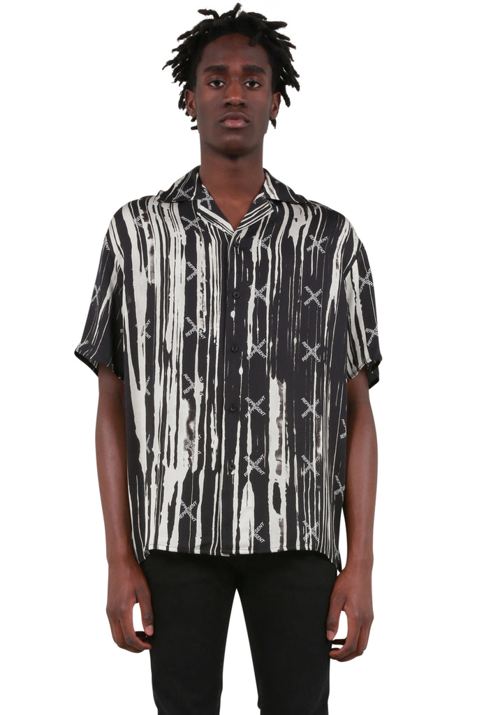 REPRESENT CLO: Camp Collar Shirt - Drips | LESSONS