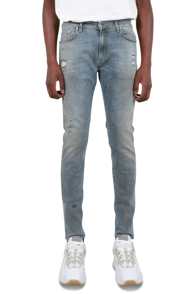 REPRESENT CLO: Distressed Denim - Work Blue | LESSONS