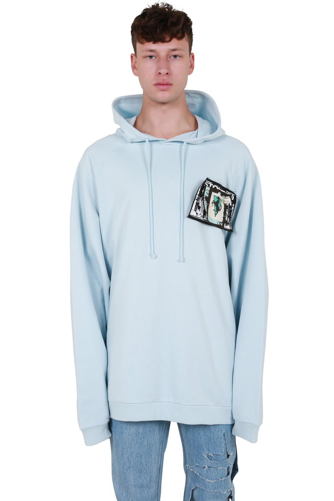 Oversized Hoodie with Patches & Pins