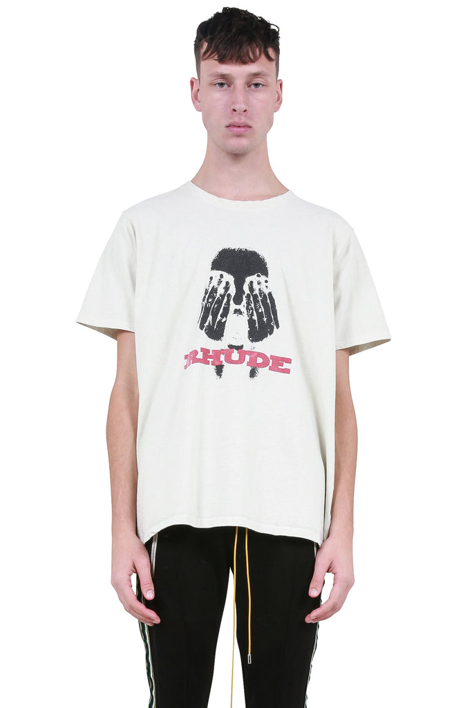 Hands On The Face T-Shirt - White